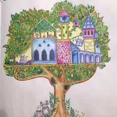 Floresta Encantada/ Vila na Árvore /Johanna Basford
