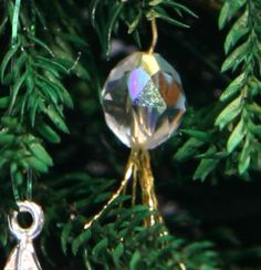 Make these miniature Christmas tree ornaments for a dollhouse, railroad, or Christmas village using a variety of beads.: Sparkling Crystal Ornaments Made from Crystals for Miniature Christmas Trees