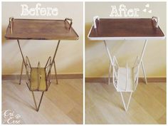 Restauro tavolino in legno - How to restore a side table #restore #shabby #sidetable #beforeafter