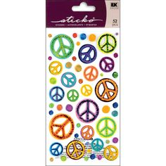 Sticko Classic Stickers - Sketchy Peace Signs