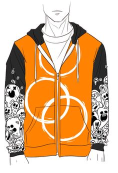 XL OFF Dual-Colored Hoodie by DOXOlove on Etsy