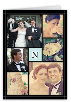 Storybook Wedding Announcement, Square Corners, Blue