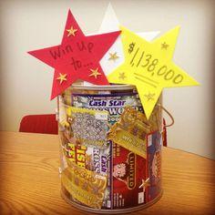 Lottery scratcher tickets gift basket. | blue and gold | Pinterest ...