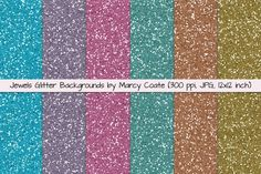 These gorgeous jewel toneglitter papers are perfect for all your festive and holiday occasions, and just right for adding sparkly accents to your greeting cards, photos and digital layouts. Birthday parties, anniversary parties, retirement parties, New Year parties and other celebrations. JPG, 300 ppi, 12x12 inches. Coordinating rainboweffect gradient glitter papers here