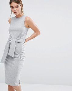 New Look | New Look Tie Waist Midi Dress