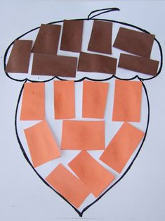 Paper Acorn Fall Craft For Kids! This Paper Acorn fall
