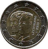 moneda conmemorativa 2 euros Luxemburgo 2009., Tienda Numismatica y Filatelia Lopez, compra venta de monedas oro y plata, sellos españa, accesorios Leuchtturm