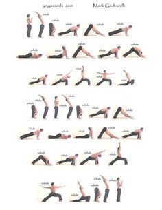Beginning to end of yoga routine