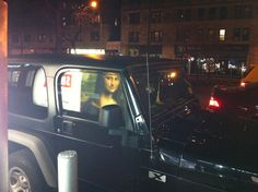 Mona Lisa is my passenger...88th & B'way.