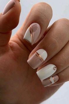Chic Nails, Classy Nails, Stylish Nails, Simple Nails, Classy Nail Designs, Pink Nail Designs, Short Nail Designs, Cute Nail Art Designs, Nails Inc