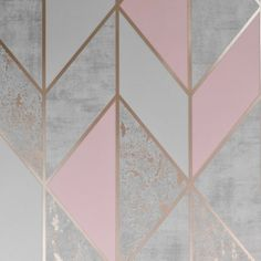 living room ideas Superfresco Milan Geo Blush Pink Wallpaper 106532 The cost of a kitchen remodeling Gold Geometric Wallpaper, Pink And Gold Wallpaper, Rose Gold Wallpaper, Grey Wallpaper, Textured Wallpaper, Pink Wallpaper Living Room, Iphone Wallpaper, Wallpaper Online, Wallpaper Samples