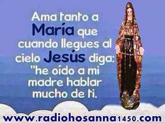 Radio Hosanna 1450 AM.  La Misionera.: Dios te salve, Reina y Madre de misericordia