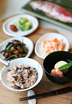 Japanese Okuizome dish - Okuizome お食い初め is a Japanese ceremony to celebrate the 100th day of  the baby's birth.
