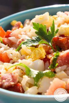 Arroz com Linguiça Calabresa, Tomate e Ovo – prepare para o Ano Novo! #receita #ceia #anonovo