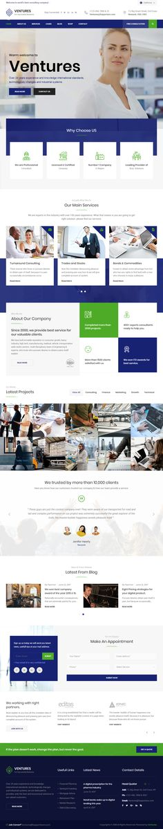Ventures is Premium full Responsive Retina #HTML5 Business Template. Parallax Scrolling. Bootstrap Framework. Revolution Slider. If you like this #ConsultingTemplate visit our handpicked list of best HTML5 #Consulting Templates at: http://www.responsivemiracle.com/best-html5-consulting-template-2018/