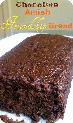Authentic Life's Simple Measures: Chocolate Amish Friendship Bread Read More by icookdifferent Just Desserts, Delicious Desserts, Dessert Recipes, Yummy Food, Health Desserts, Amish Bread Starter, Amish Friendship Bread Starter Recipe, Amish Bread Recipes, Amish Pumpkin Bread Recipe