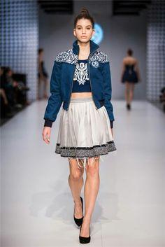 CENTRAL EUROPEAN SHOWS TRUE BLUE BY JANA GAVALCOVA Lace Skirt, Sequin Skirt, Indigo, Folk, Blues, Sequins, Skirts, Diy, Fashion