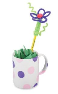 Mother's Day Mug with Chenille Stem Flowers