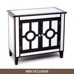 Black Mirrored Cabinet