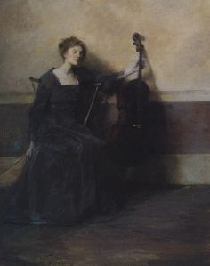 Thomas Wilmer Dewing - The musician, 1909