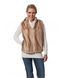 ... Mink Fur Vest with Lamb Leather back