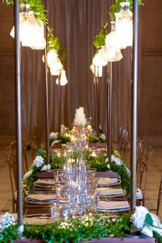 Stacie and Roland's beautiful gold flatware settings at the San Francisco Asian Art Museum wedding.
