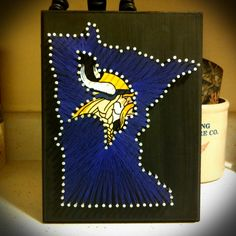 Minn Vikings, State String Art, Vikings String Art