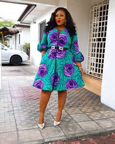 """Today we bring to you """"Enchanting Ankara Styles to Copy."""" Ankara is so lovable that you would find it difficult and hard to find faults in it styles. Ankara has made the fashion community a more competitive one. Ankara Short Gown Styles, Short African Dresses, Short Gowns, African Print Dresses, Ankara Gowns, African Fashion Ankara, Latest African Fashion Dresses, African Print Fashion, Africa Fashion"""