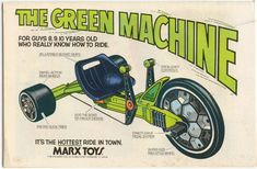 Toys From the 1970s | WASTED WHEELS: 70's Marx Toys: Big Wheel & The Green Machine