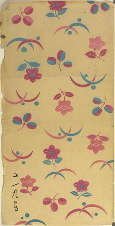 These beautiful prints are salesman's samples of kimono cloth designs…