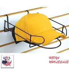 Set of 5 Slatwall Cap Holder Multiple Hat Holder Gridwall & Pegboard - Black