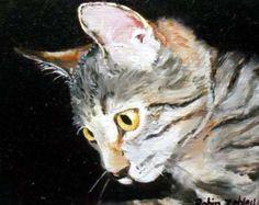 Items similar to Custom Pet Portrait, Custom Cat Painting, Oil Painting, 8x10 Painting, Rag Doll Painting on Etsy