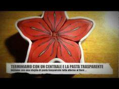 Polymer clay tutorial millefiori cane fiore rosso / red flower