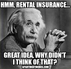Remind your residents how SMART it is to get rental insurance. #ApartmentMemes #Apartments #Leasing #Multifamilyhousing #rent #RealEstate