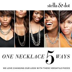 One necklace, FIVE (or more!) amazing ways to wear it - it's the Stella & Dot Sutton necklace!