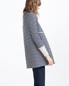 PRINTED COAT from Zara