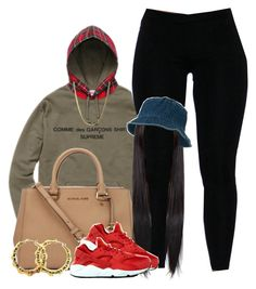 """Untitled #403"" by princess-miyah ❤ liked on Polyvore featuring Comme des Garçons SHIRT, Michael Kors, NIKE, Fergie, women's clothing, women's fashion, women, female, woman and misses"