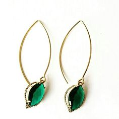 HOST PICK GORGEOUS EMERALD GREEN MARQUISE EARRINGS Gorgeous emerald green faceted crystal glass dangle from elegant marquise earwire. Perfect for day to evening Glam!  Handmade Very lightweight 2.3 inches   LUXURY QUALITY!  FREE SHIPPING! shopjewelry  Jewelry Earrings
