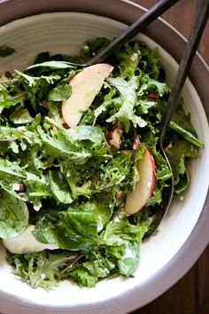 Apple, Pomegranate and Goat Cheese Salad.