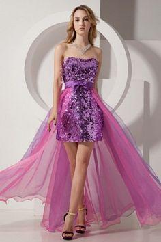 Luxury Purple Organza Evening Dresses - Order Link: http://www.theweddingdresses.com/luxury-purple-organza-evening-dresses-twdn0926.html - Embellishments: Sash , Bowknot , Ruched; Length: Floor Length; Fabric: Organza; Waist: Natural - Price: 149.15USD