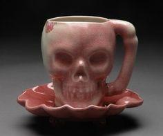 tea time pink skull
