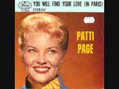Patti Page - Fibbin' Billboard/Cashbox Box/Music Vendor Top 30 or 40 hit. Patti Page, Oldies But Goodies, Pop Singers, Billboard, Einstein, Music Videos, Singing, Lyrics, Musica