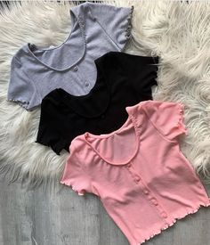 Cute Lazy Outfits, Crop Top Outfits, Pretty Outfits, Casual Outfits, Girls Fashion Clothes, Teen Fashion Outfits, Outfits For Teens, Girl Outfits, Kawaii Fashion