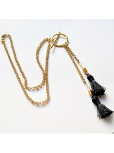 Μακρύ κολιέ με επίχρυση αλυσίδα Tassel Necklace, Jewelry, Fashion, Moda, Jewlery, Bijoux, Fashion Styles, Schmuck, Fasion