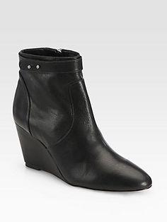 Loeffler Randall Silvi Leather Wedge Ankle Boots