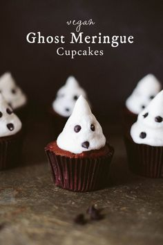 Vegan Ghost Meringue Cupcakes