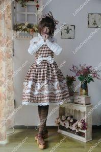 Brown Cotten Sweet LOLIta Coffee Time JSK Infanta Lolita Dress