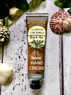 Almond Coconut Hand Cream-A MUST have for your purse! Thick cream that instantly softens and repairs dry and cracked skin. Smells like the beach! Coconuts Beach, Cracked Skin, Hand Cream, Beach Babe, Vodka Bottle, Natural Beauty, Almond, Food, Purse