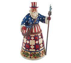 Jim Shore Heartwood Creek Americana Santa Figurine-Would love to have him