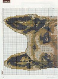 Cross-stitch German Shepherd, part 1..  color chart on part 2